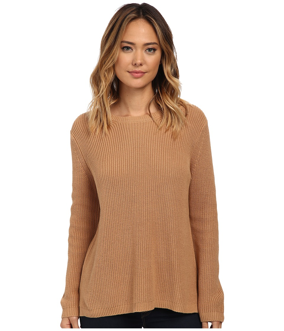 525 america - Shaker Crew Neck (Camel) Women's Clothing