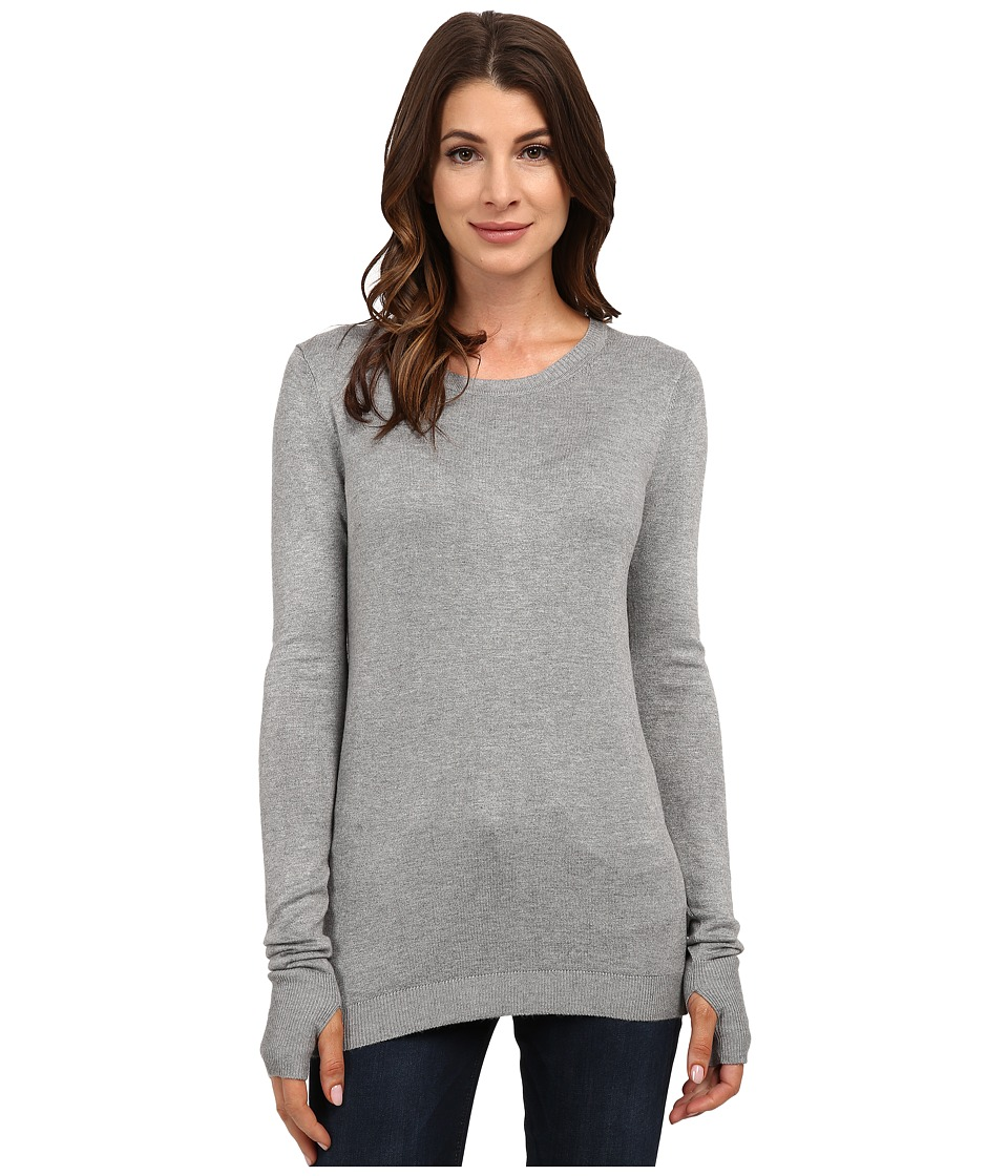 525 america - Crew Neck w/ Thumbhole (Heather Grey) Women's Clothing