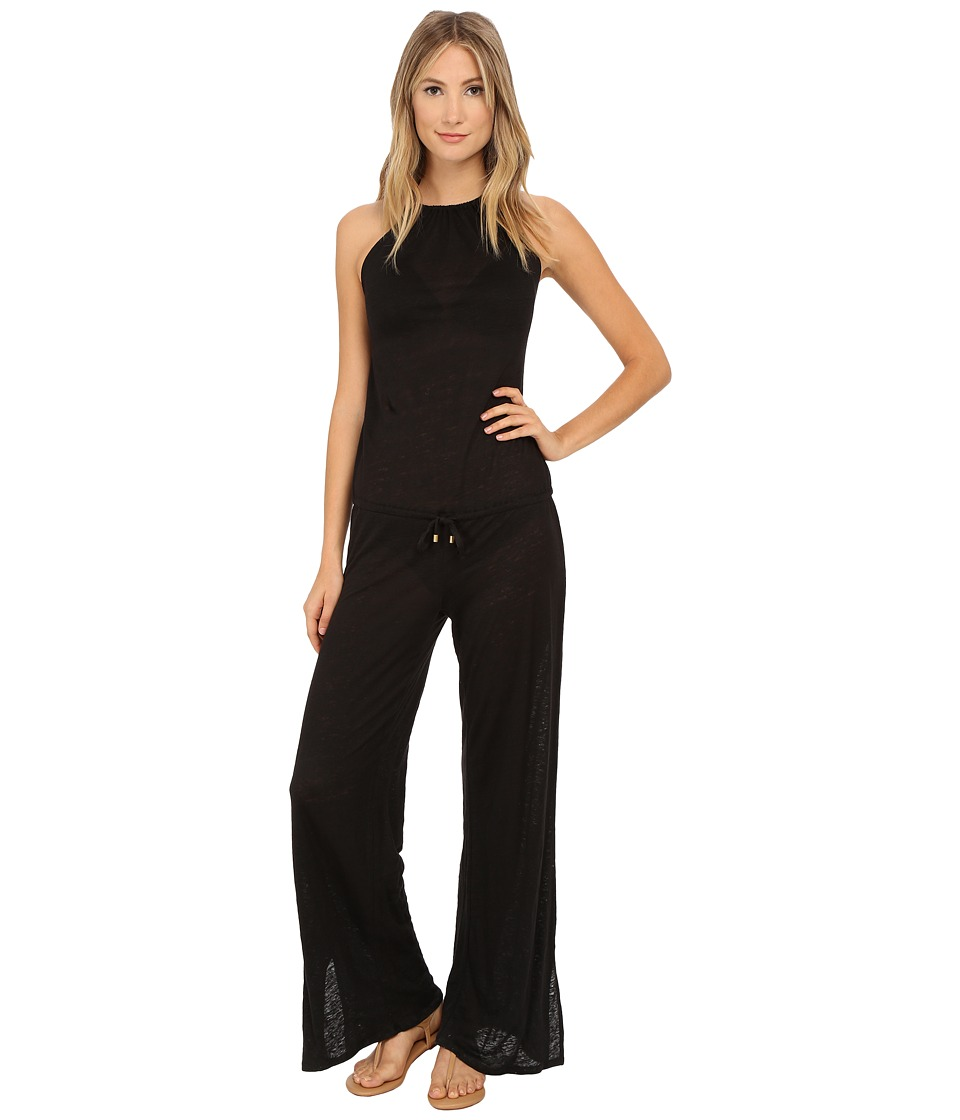 Vitamin A Swimwear - Maroma Jumpsuit Cover-Up (Eco Linen Black) Women's Jumpsuit & Rompers One Piece