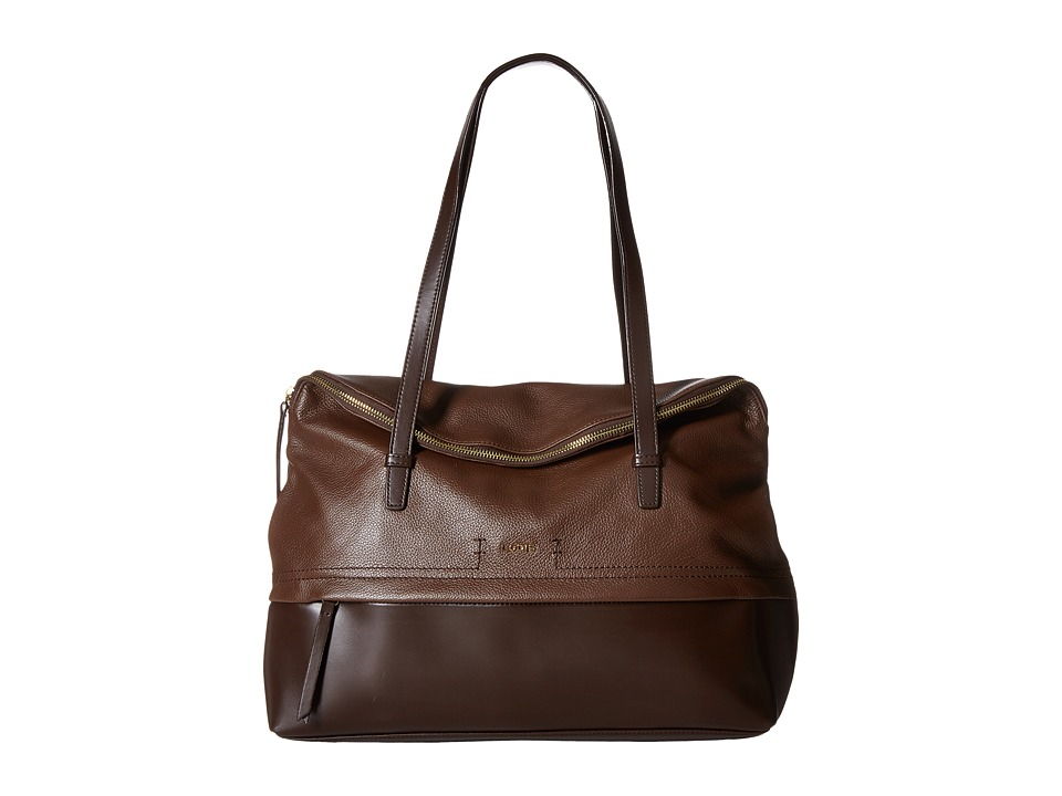 Lodis Accessories - Kate Giselle Work Tote (Chocolate) Tote Handbags