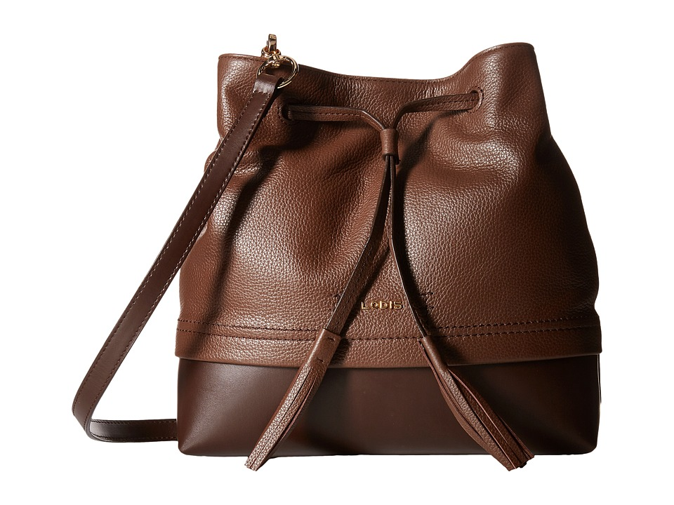 Lodis Accessories - Kate Cara Convertible Drawstring (Chocolate) Drawstring Handbags