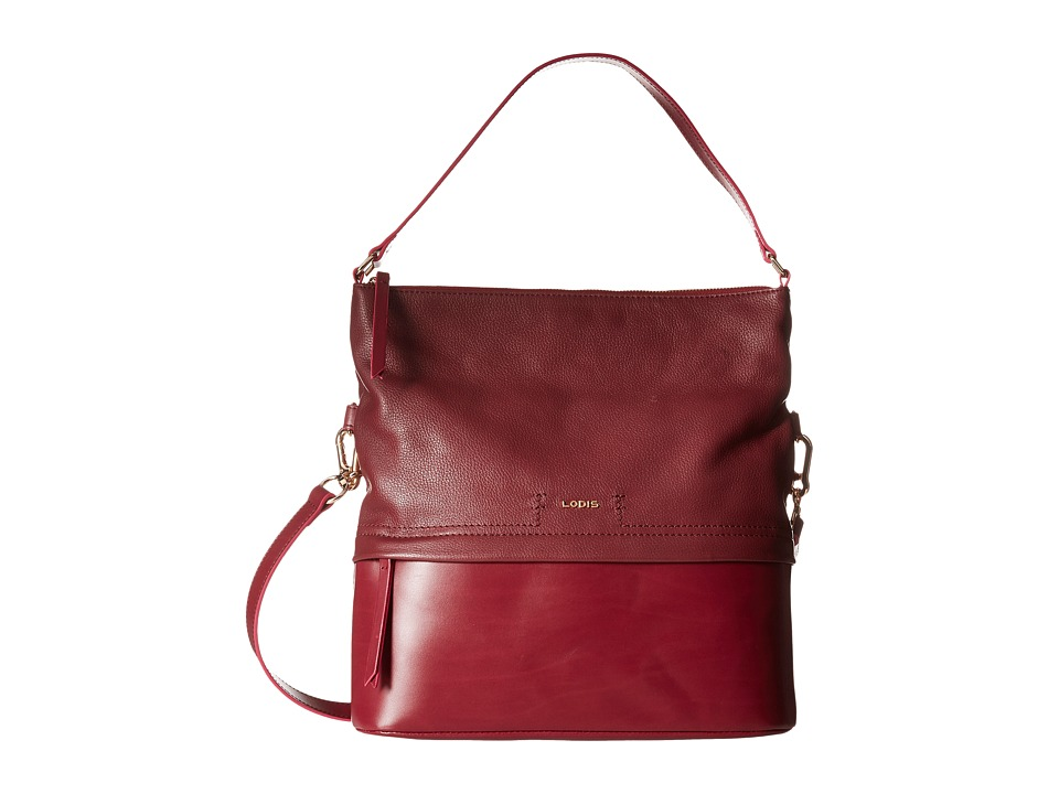 Lodis Accessories - Kate Sunny Hobo (Burgundy) Hobo Handbags