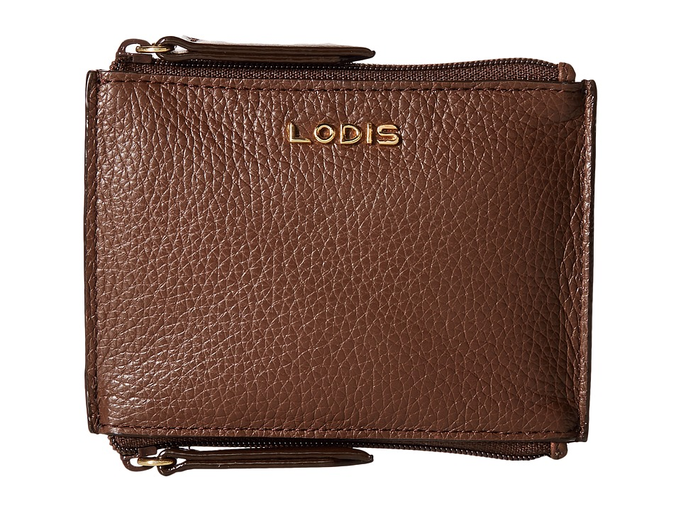 Lodis Accessories - Kate Frances Double Zip Pouch (Chocolate) Wallet Handbags