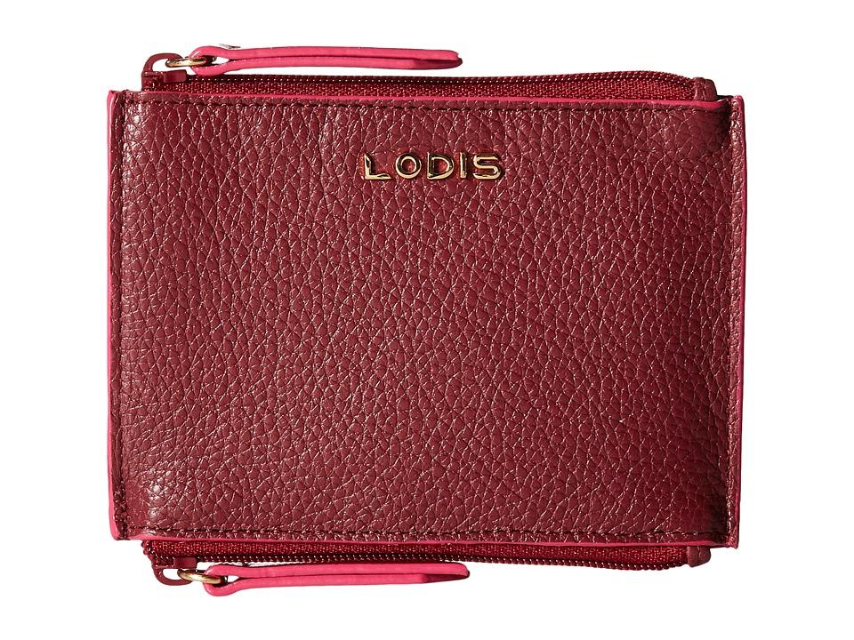 Lodis Accessories - Kate Frances Double Zip Pouch (Burgundy) Wallet Handbags