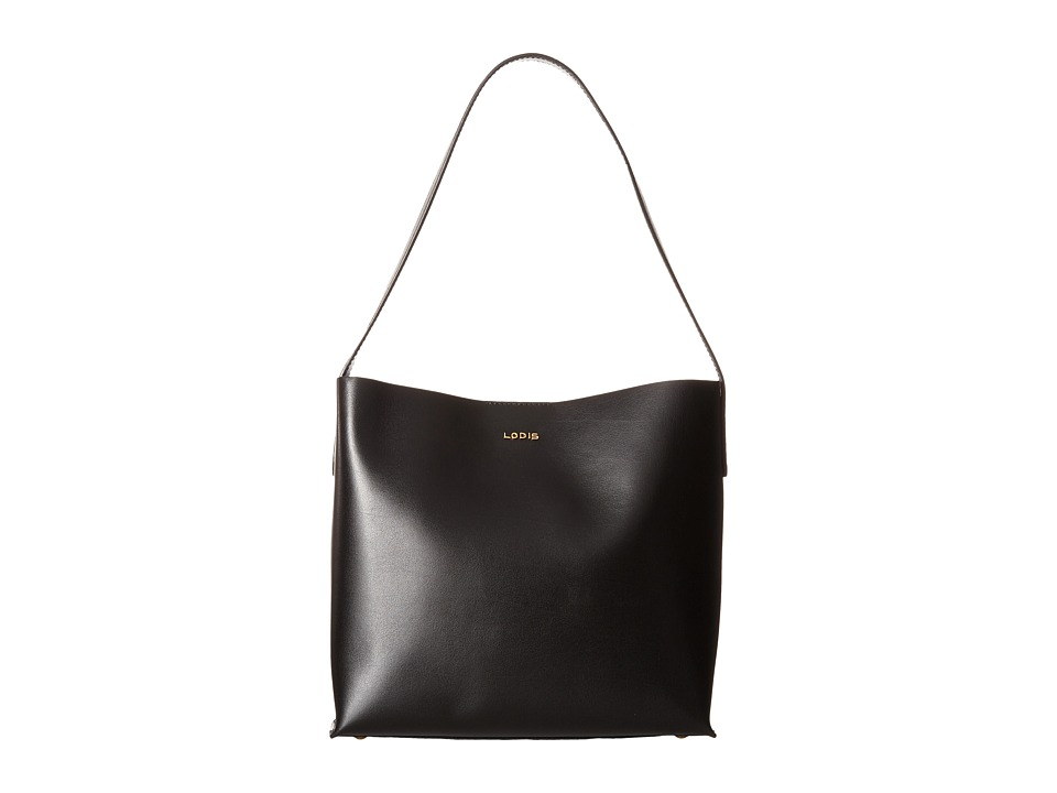 Lodis Accessories - Blair Addy Bucket (Black/Cobalt) Tote Handbags