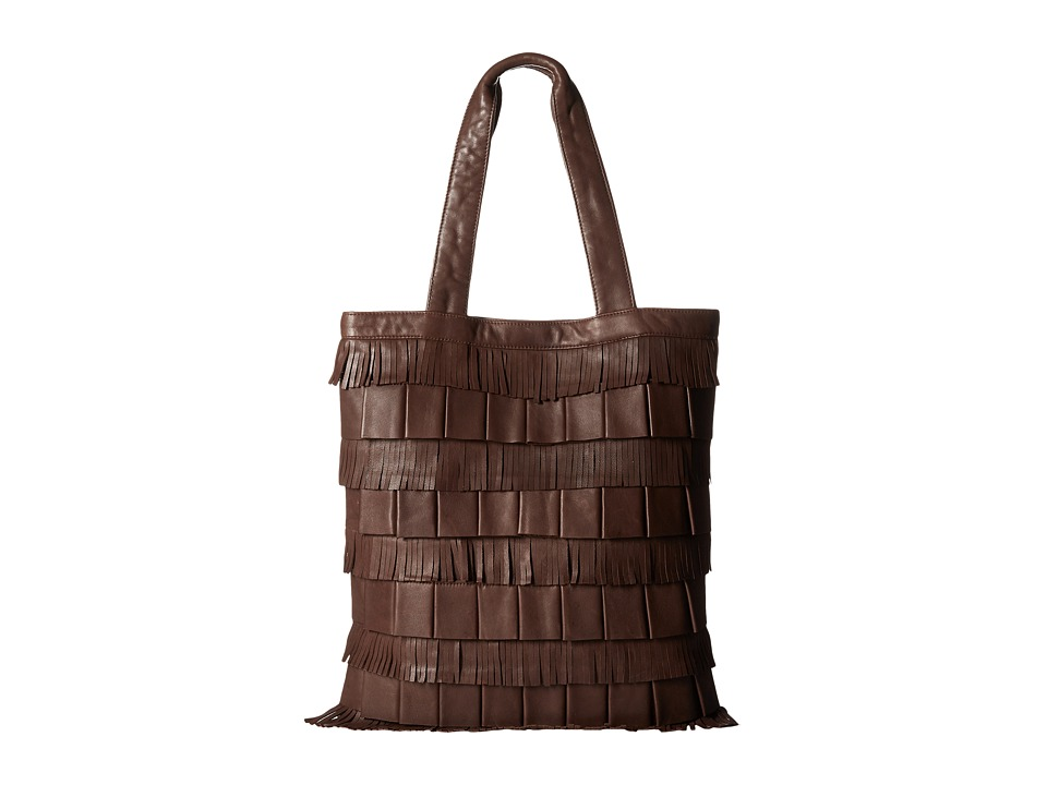 Scully - Leather Flapper Bag (Brown) Bags