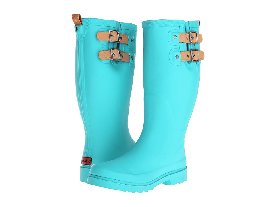 Chooka Top Solid Rain Boot (Turquoise) Women