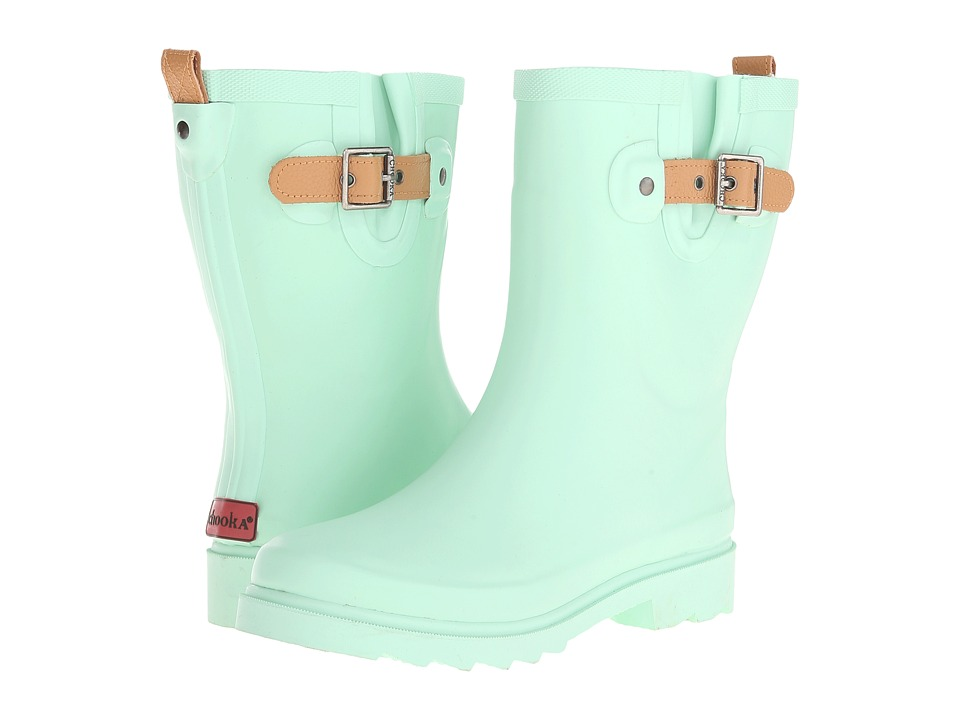 Chooka - Top Solid Mid Rain Boot (Mint 2) Women's Rain Boots