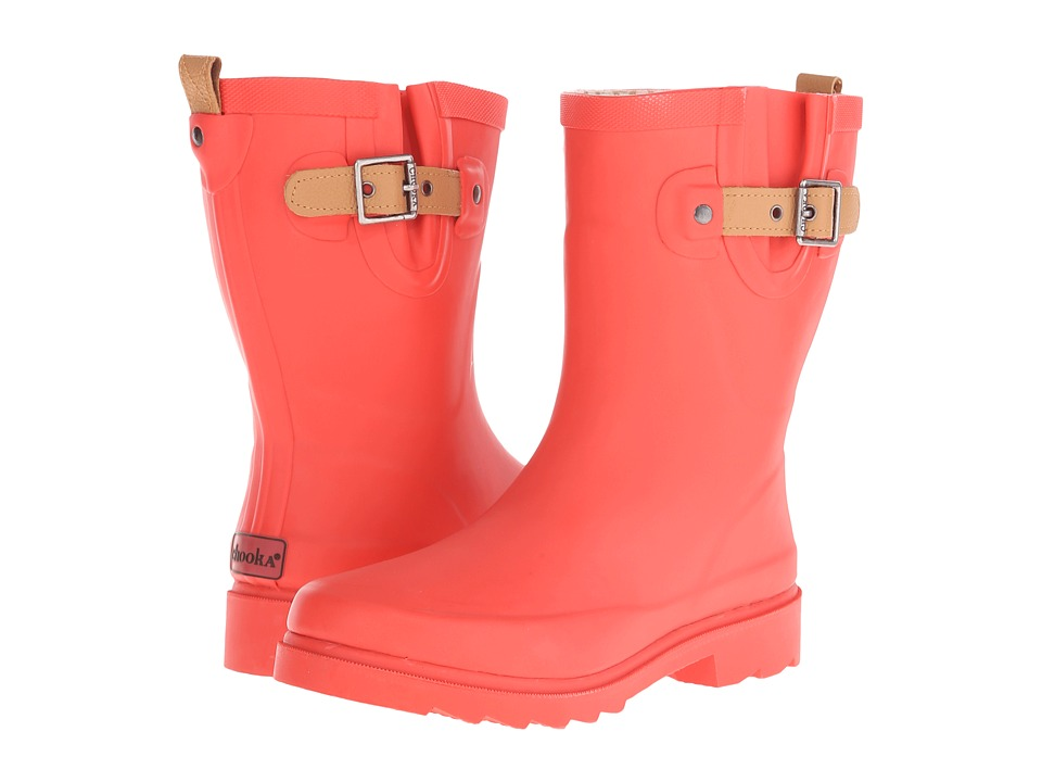 Chooka - Top Solid Mid Rain Boot (Tulip) Women