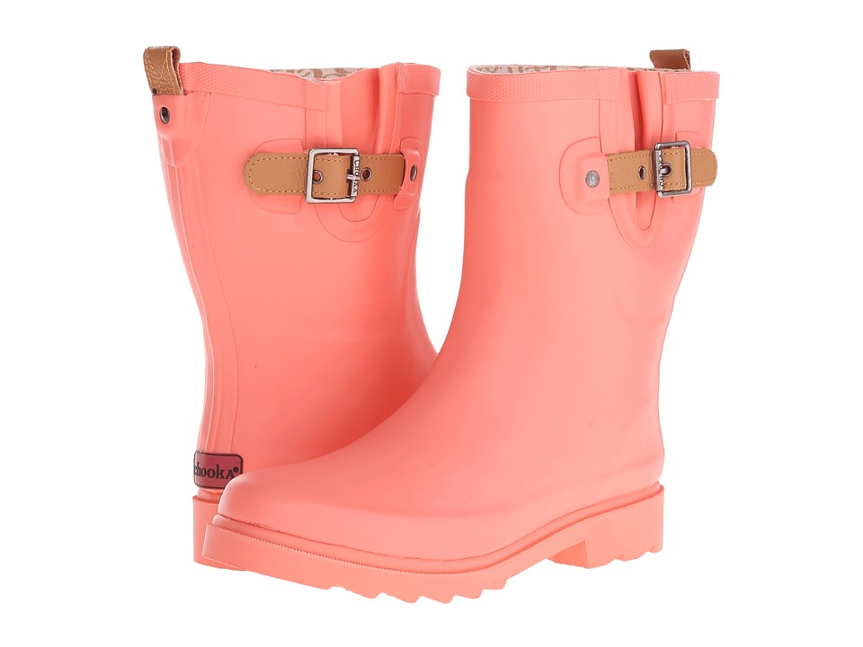 Chooka Top Solid Mid Rain Boot (Papaya) Women