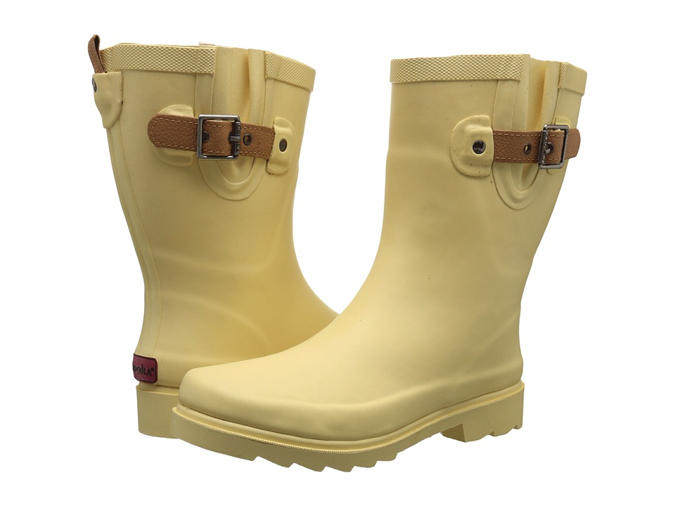 Chooka Top Solid Mid Rain Boot (Sunflower) Women