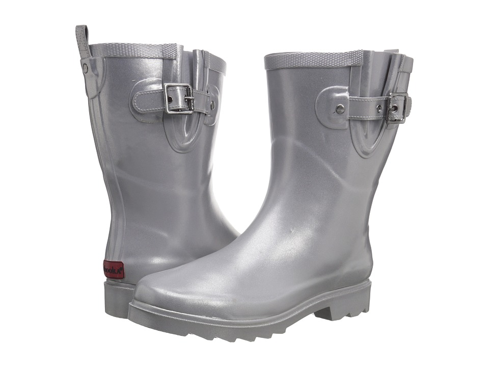 Chooka Top Solid Mid Rain Boot (Pearlized Gray) Women