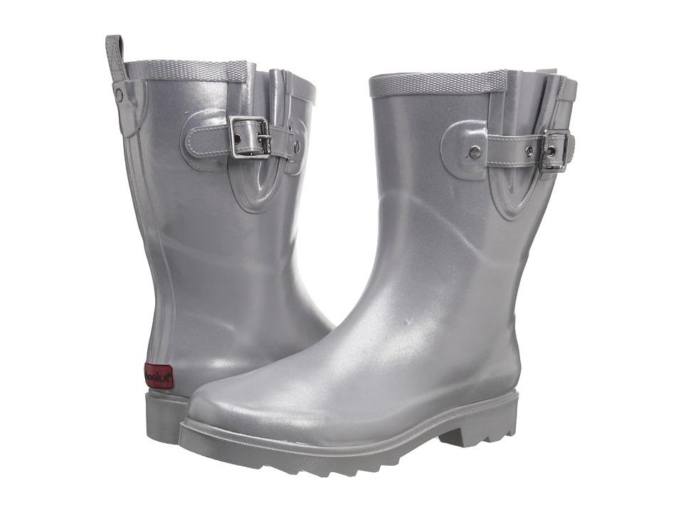 Chooka Top Solid Mid Rain Boot (Pearlized Gray) Women
