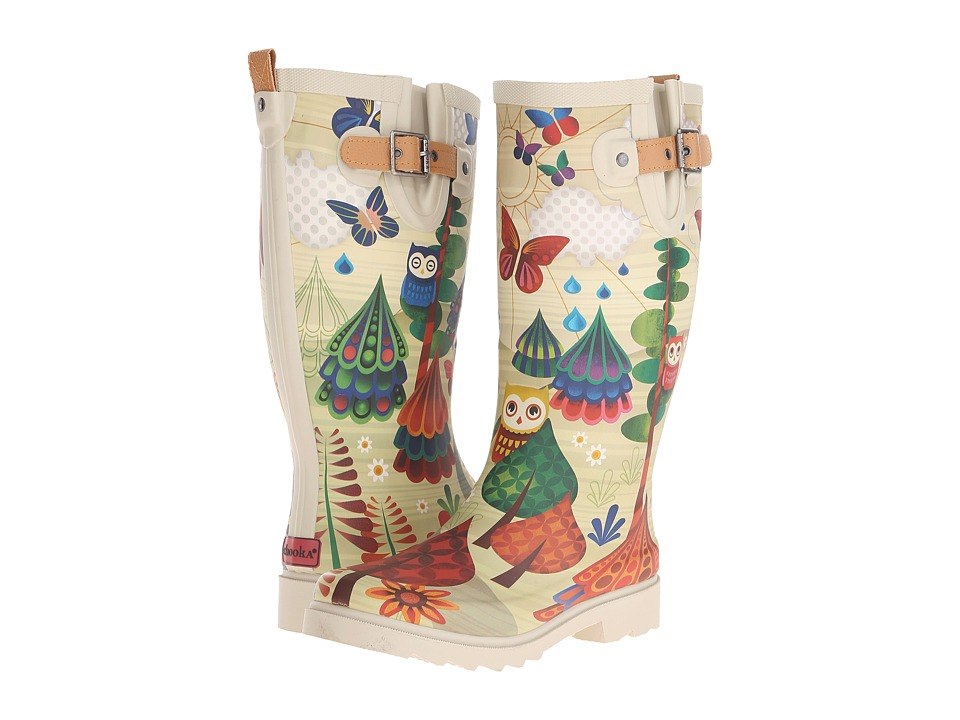 Chooka - Forest Friends (Beige) Women's Rain Boots