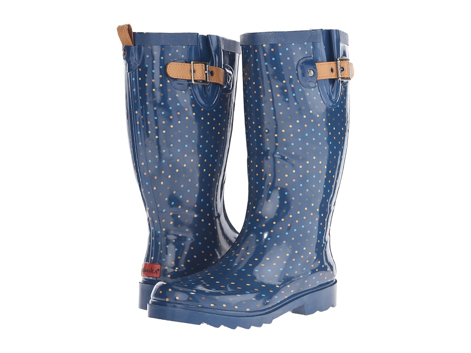 Chooka - Chevron Dot (Navy) Women's Rain Boots