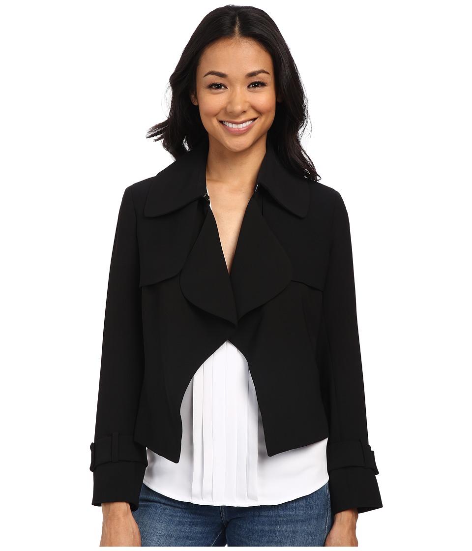 Anne Klein - Short Trench Coat (Black) Women's Coat