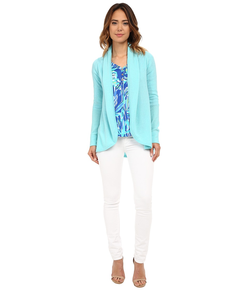 Lilly Pulitzer - Bryn Cashmere Cardigan (Shorely Blue) Women's Sweater