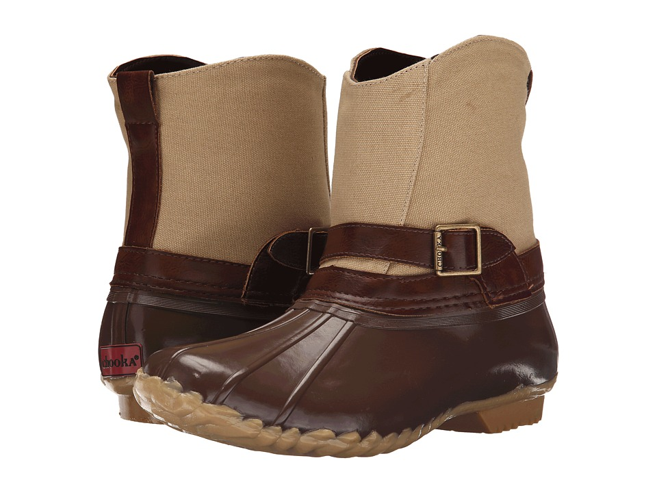 Chooka Canvas Step In Duck Boot (Chocolate) Women