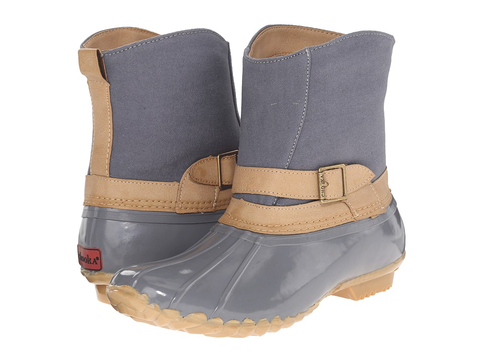 Chooka Canvas Step In Duck Boot (Gray) Women