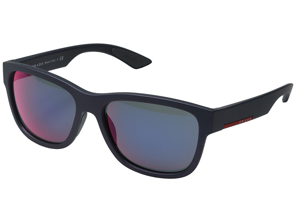 Prada Linea Rossa - 0PS 03QS (Shot Grey Rubber/Dark Grey Mirror) Fashion Sunglasses