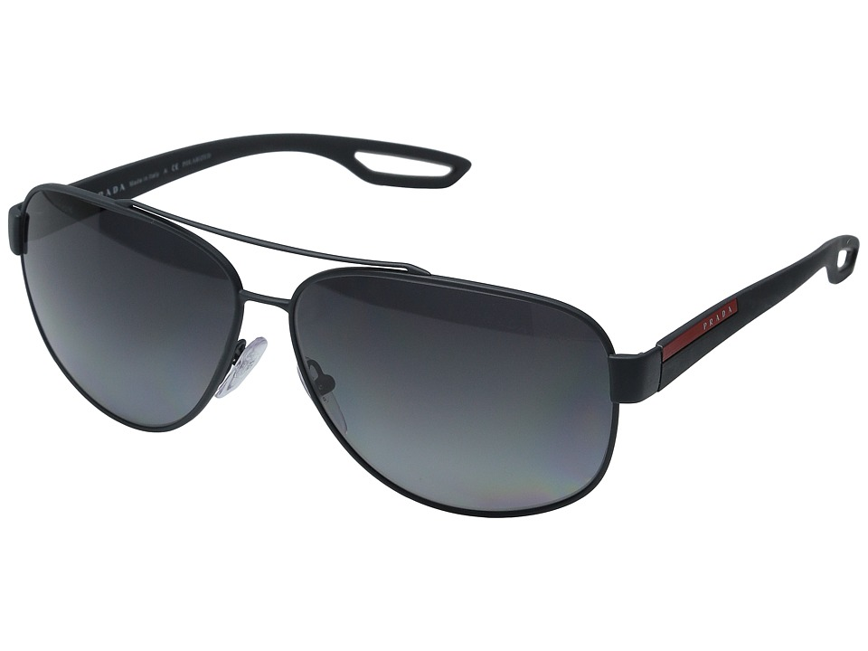 Prada Linea Rossa - 0PS 58QS (Grey Rubber/Polarized Grey) Fashion Sunglasses