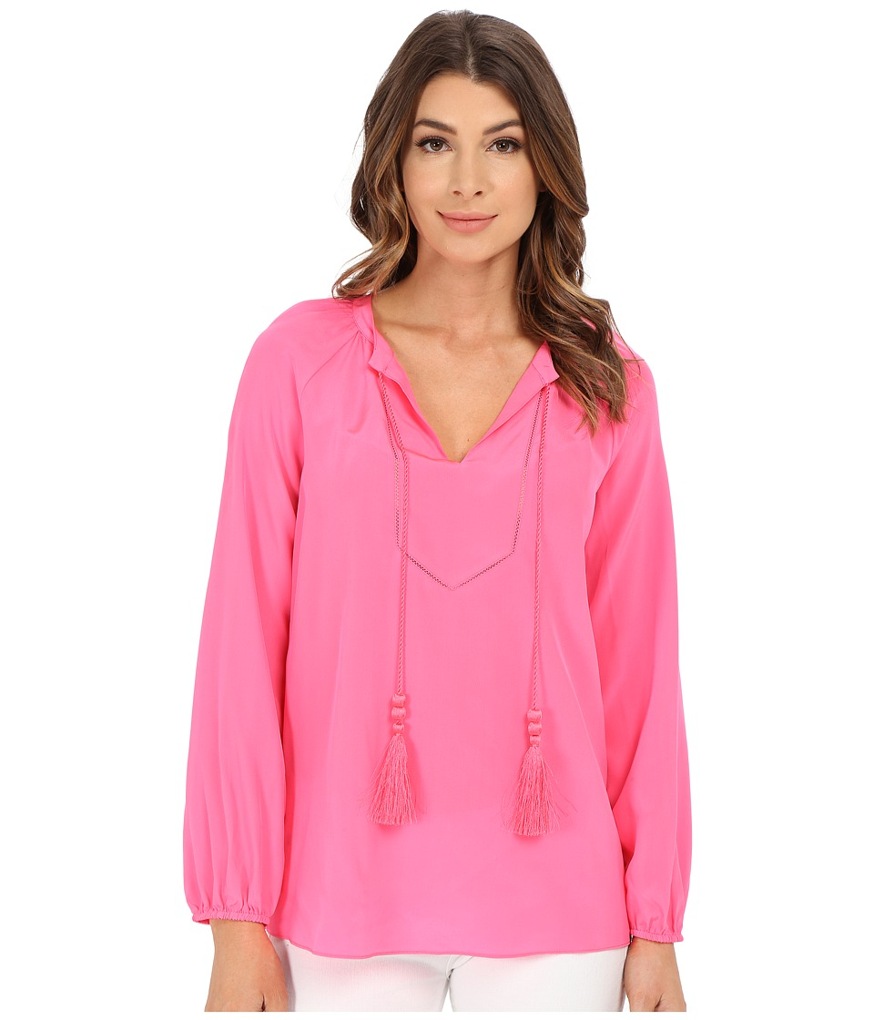 Lilly Pulitzer - Saria Top (Flamingo Pink) Women's Clothing