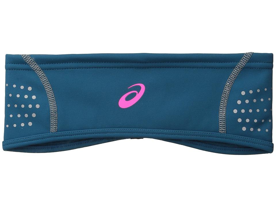 ASICS - Lite-Show Windblock Headwarmer (Mosaic Blue/Pink Glow) Caps
