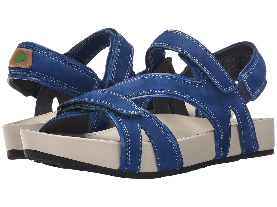 Earth - Magic Kalso (Royal Blue Soft Buck) Women's Sandals