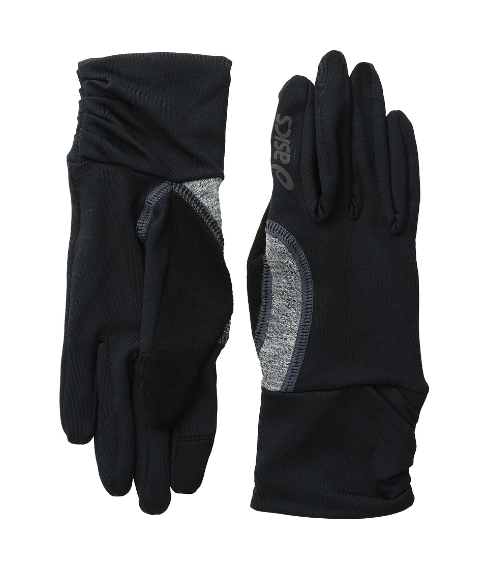 ASICS - Felicity Fleece Glove (Black/Grey Heather) Extreme Cold Weather Gloves