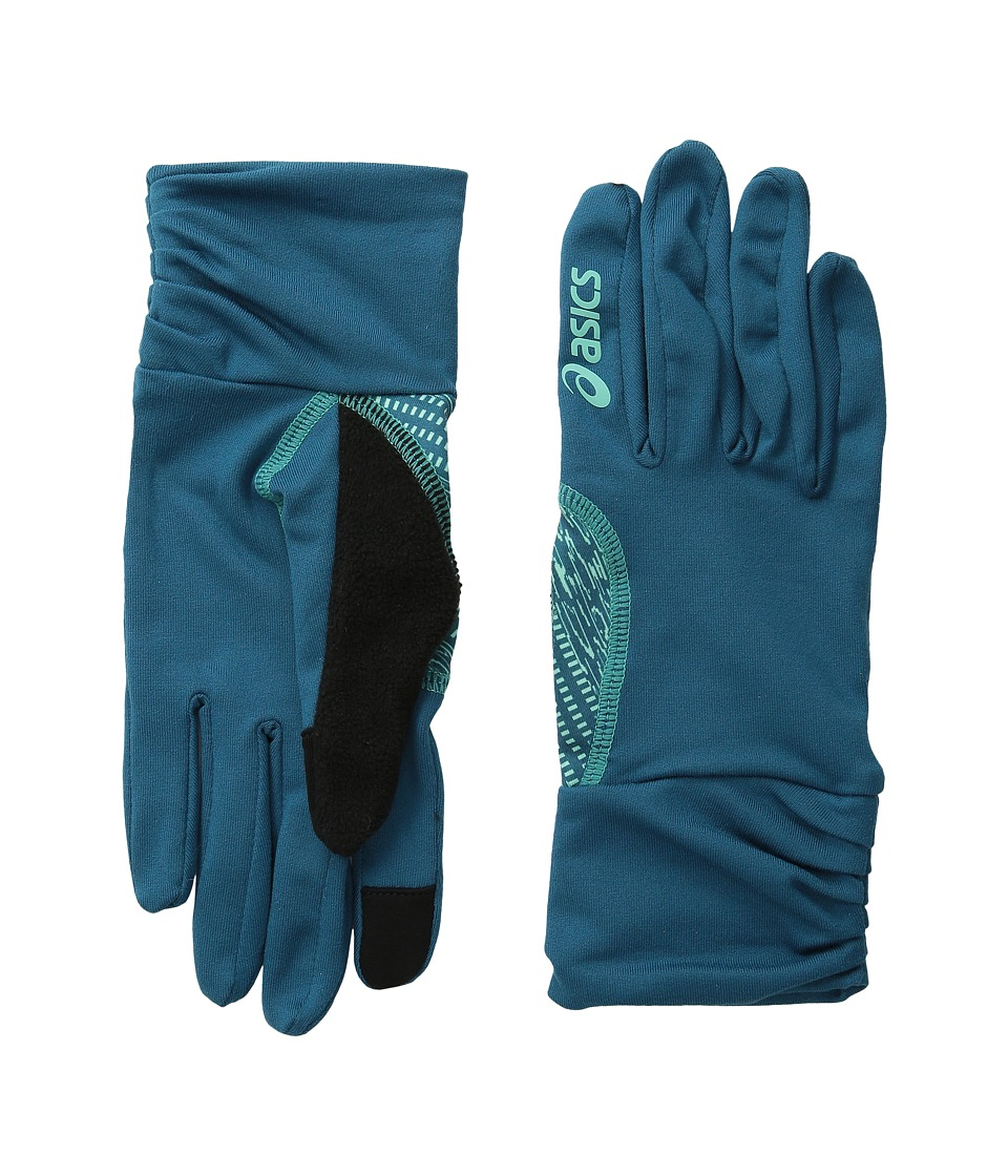 ASICS - Felicity Fleece Glove (Mosaic Blue/Aqua Mint) Extreme Cold Weather Gloves