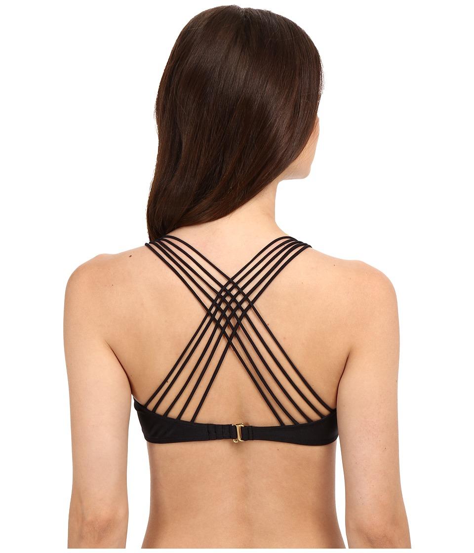 Luli Fama - Verano de Rumba Multi Cross Strap Bra Top (Black) Women's Swimwear