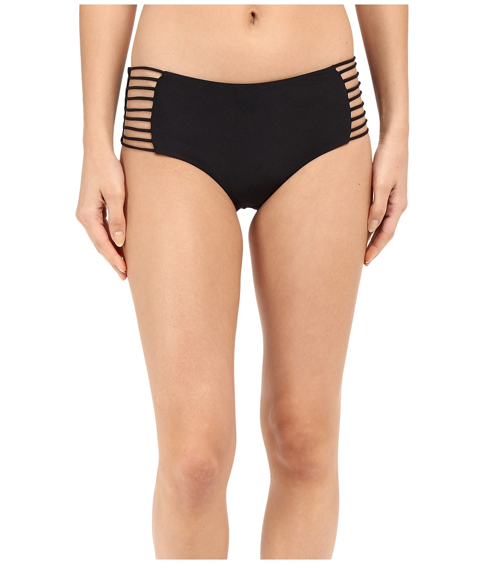 Luli Fama - Verano de Rumba Multi Strings High Waist Bottoms (Black) Women's Swimwear