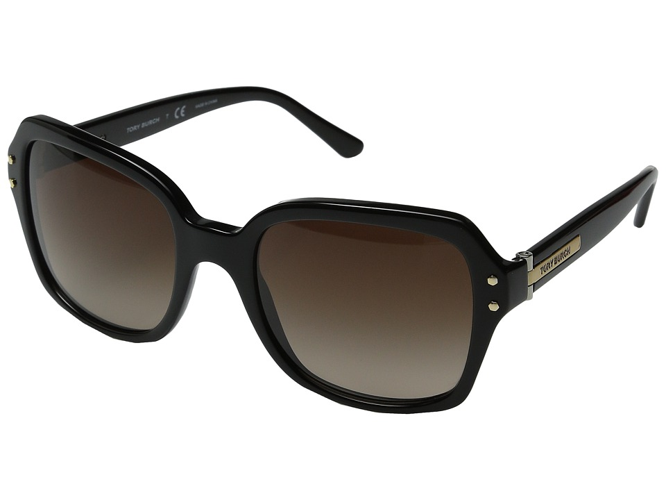 Tory Burch - 0TY7082 (Black/Dark Brown Gradient) Fashion Sunglasses