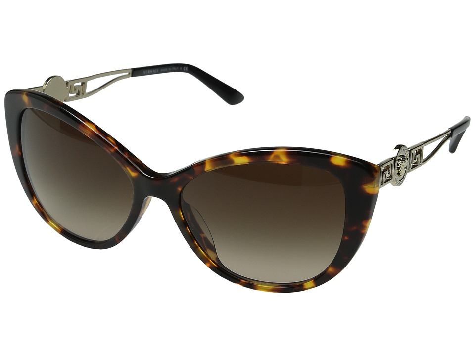 Versace - VE4295A (Havana/Brown Gradient) Fashion Sunglasses