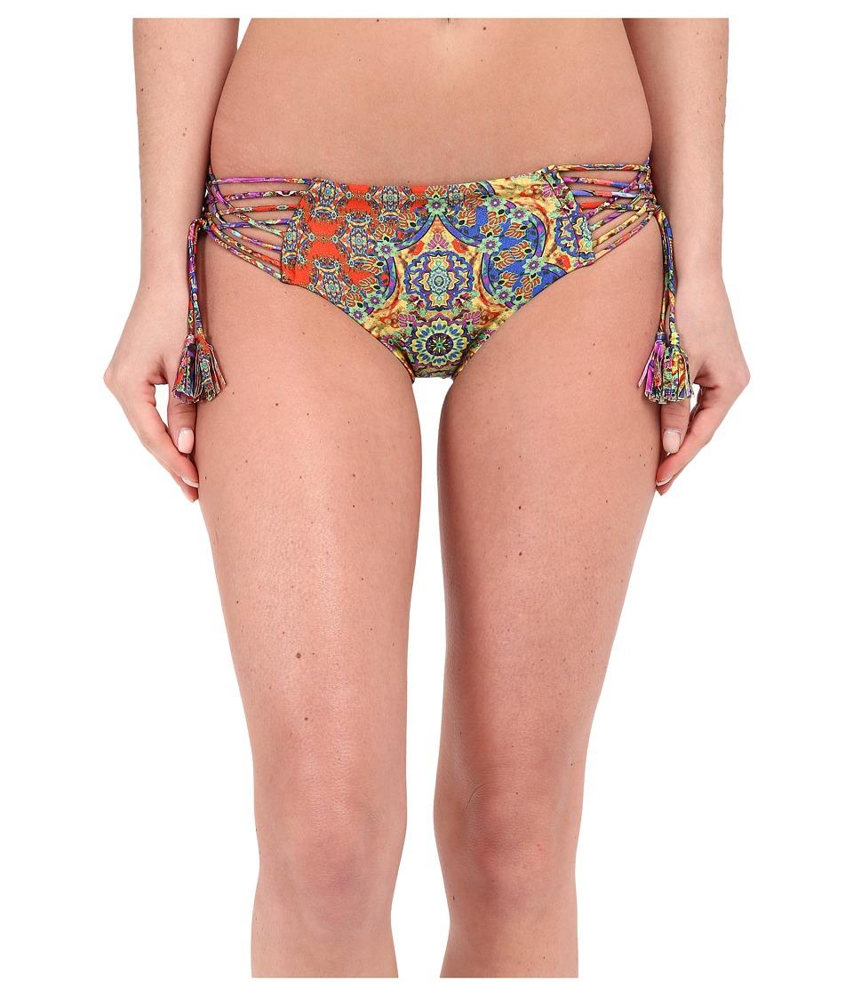 Luli Fama - Gipsy Soul Crisscross Sides Full Bottom w/ Removable Tassels (Multicolor) Women's Swimwear