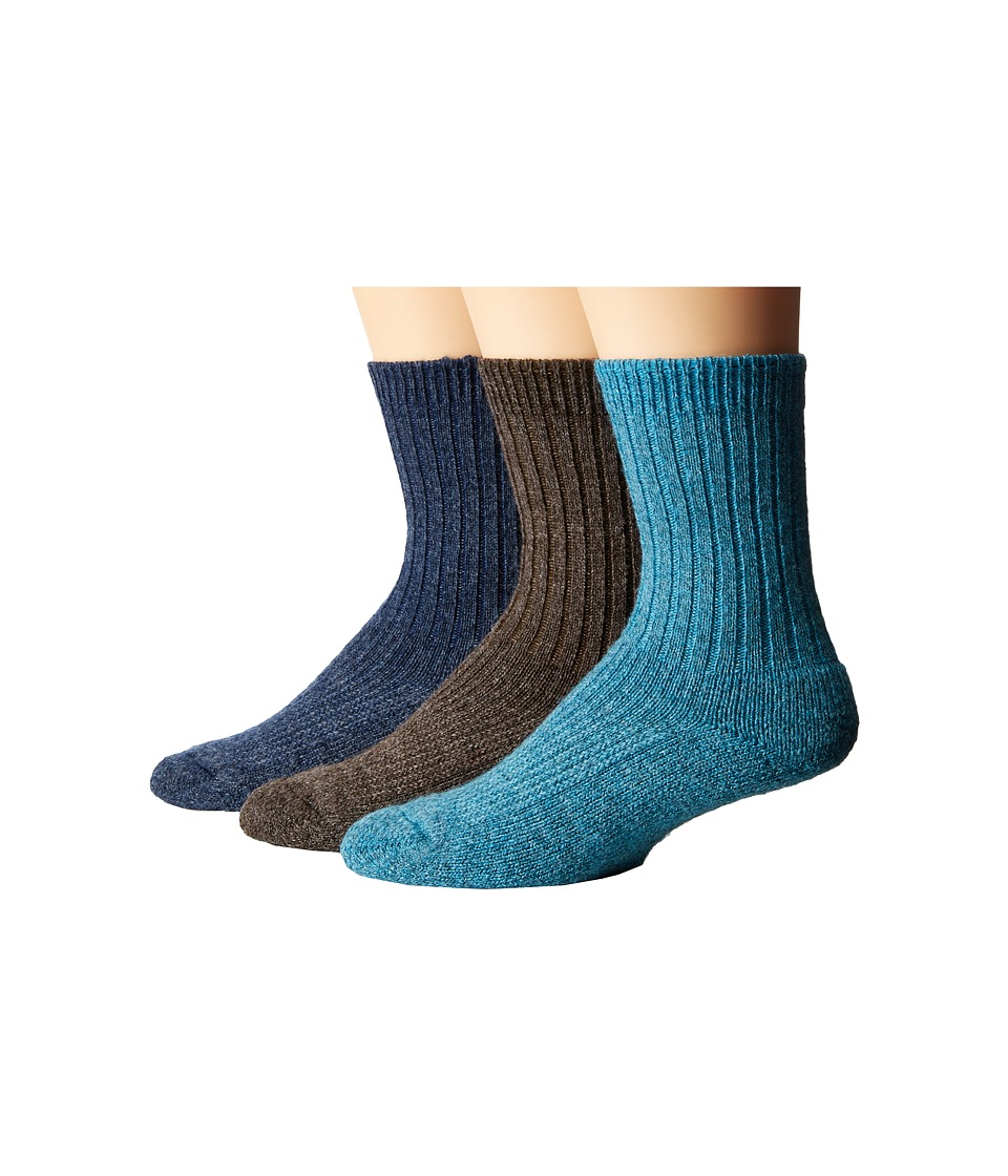 Wigwam - American Wool Casual 3-Pack (Assorted Colors) Crew Cut Socks Shoes