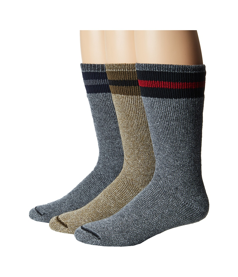 Wigwam - American Wool Boot 3-Pack (Assorted Colors) Crew Cut Socks Shoes
