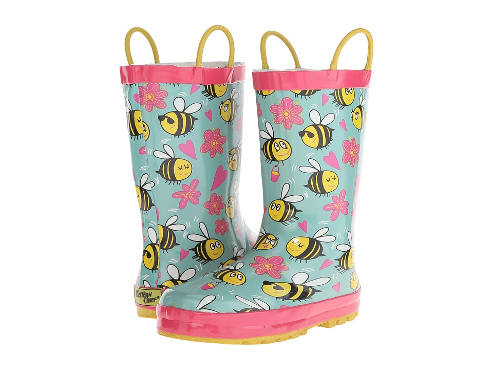 Western Chief Kids - Busy Bees (Toddler/Little Kid) (Turquoise) Girls Shoes