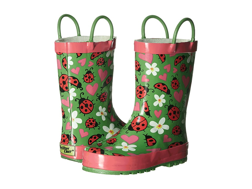 Western Chief Kids - Lovely Ladybugs (Toddler/Little Kid) (Green) Girls Shoes