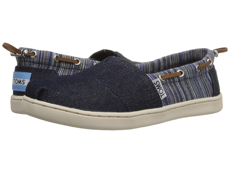 TOMS Kids - Bimini Espadrille (Little Kid/Big Kid) (Blue Denim Geo Textile) Kids Shoes
