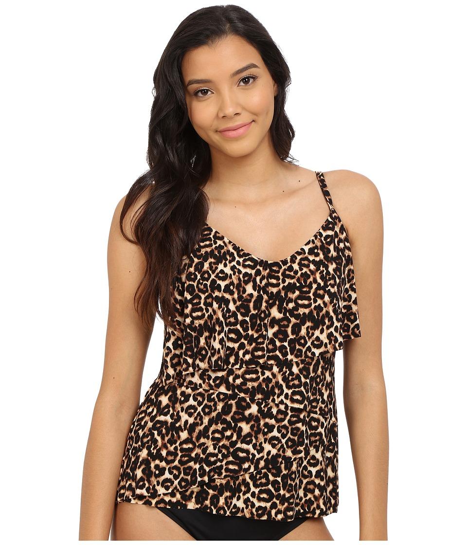 Magicsuit - Cougar Chloe Soft Cup Tankini Top (Brown) Women's Swimwear