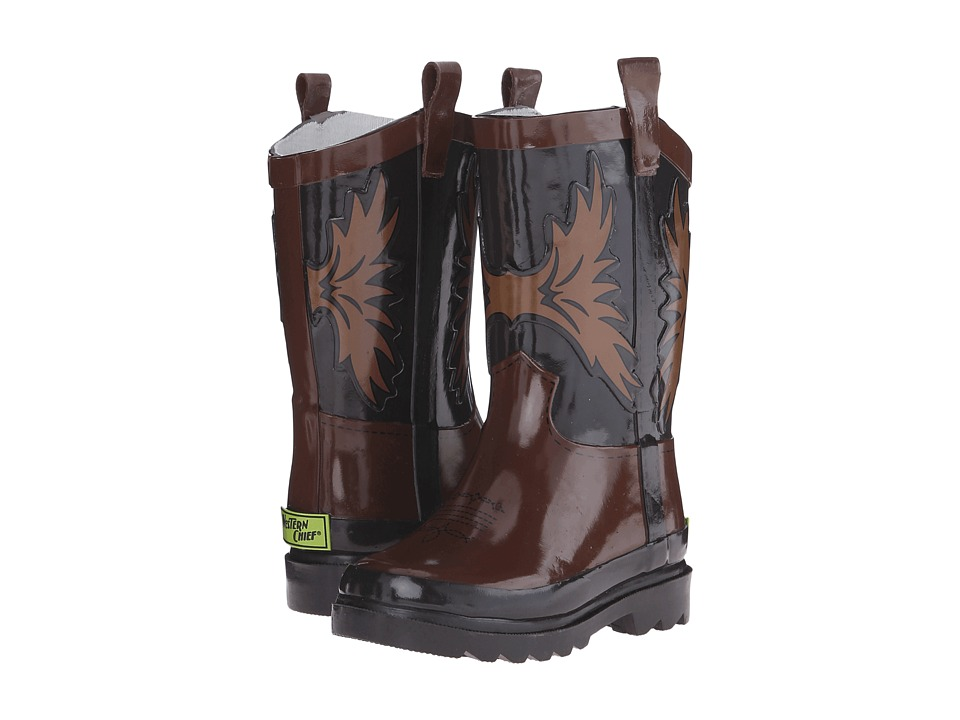 Western Chief Kids - Western Cowboy (Toddler/Little Kid/Big Kid) (Brown) Boys Shoes