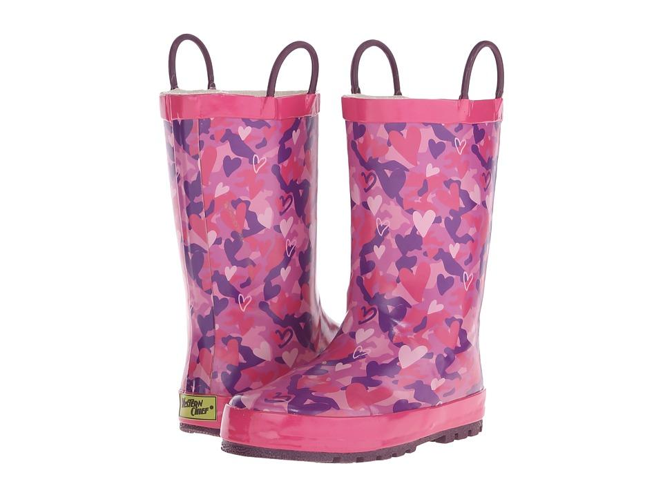 Western Chief Kids - Heart Camo (Toddler/Little Kid/Big Kid) (Pink) Girls Shoes