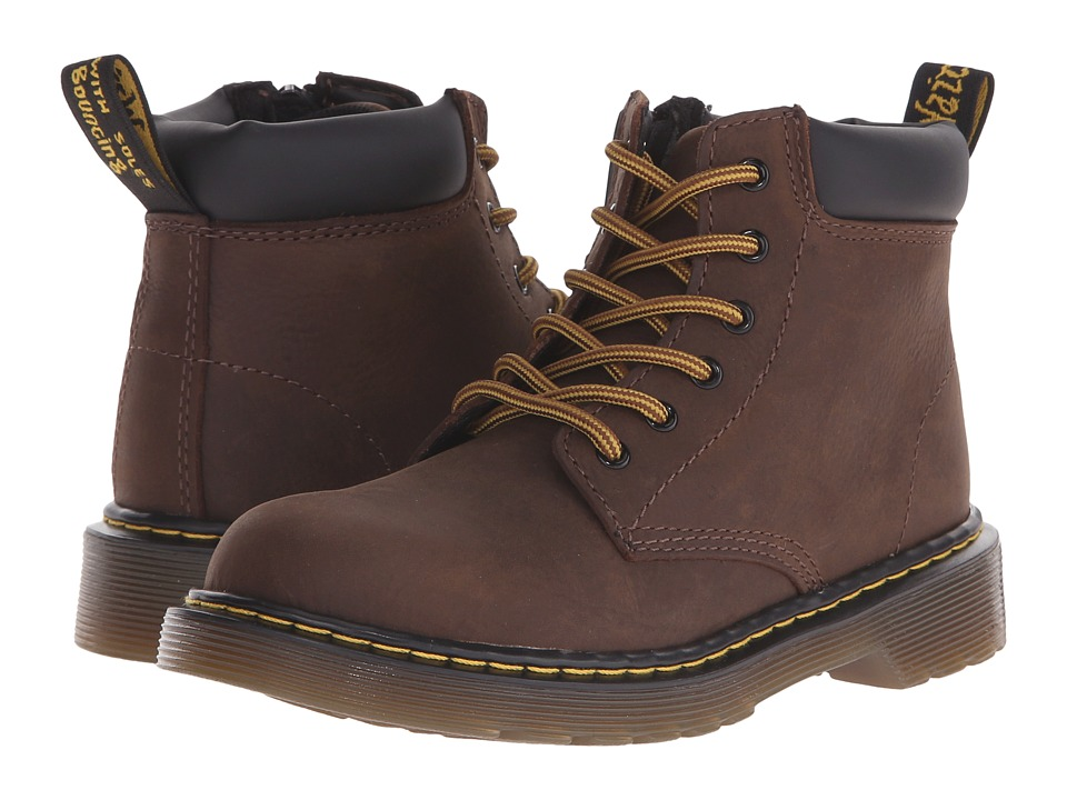 Dr. Martens Kid's Collection - Padley J (Little Kid/Big Kid) (Dark Brown) Boys Shoes