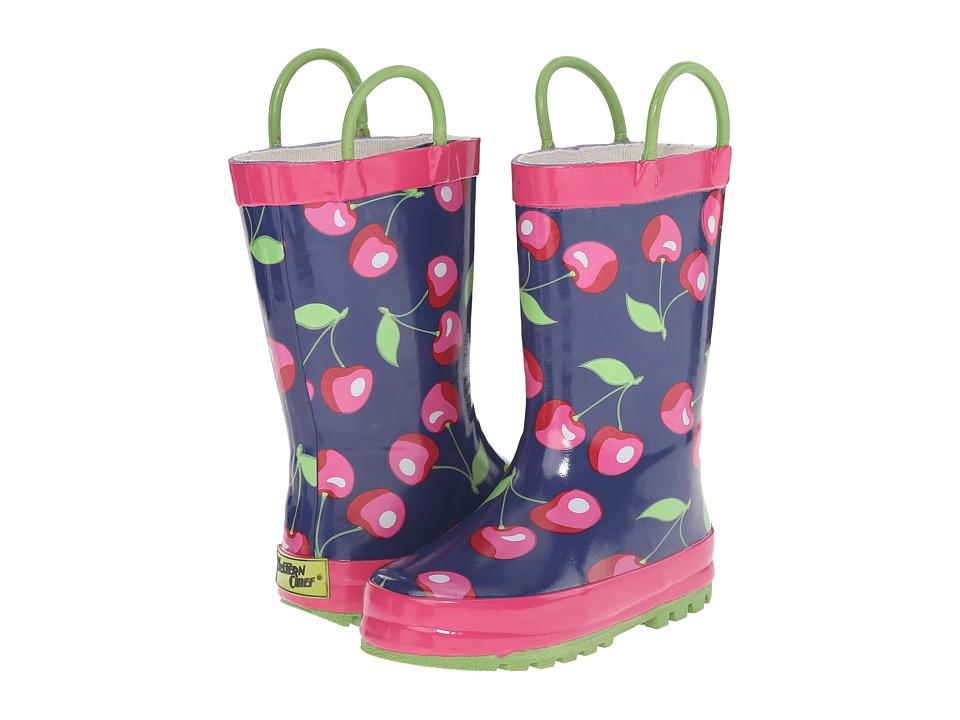 Western Chief Kids - Sweet Cherries (Toddler/Little Kid/Big Kid) (Navy) Girls Shoes