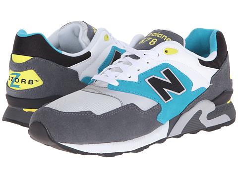 New Balance Classics - ML878 (White/Grey) Men's Classic Shoes