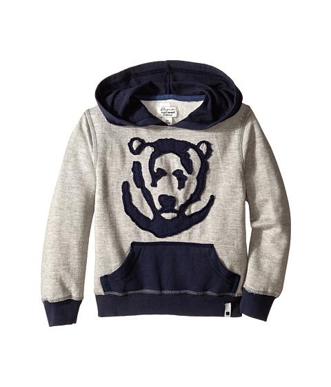 Lucky Brand Kids - Bear Applique Hoody (Toddler) (Light Heather) Boy's Sweatshirt