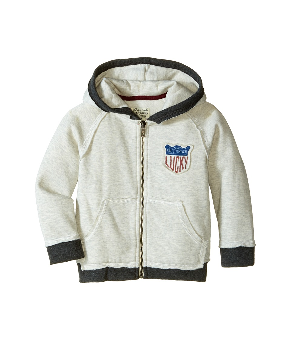 Lucky Brand Kids - Patrol Hoody (Toddler) (Turtle Heather) Boy's Sweatshirt
