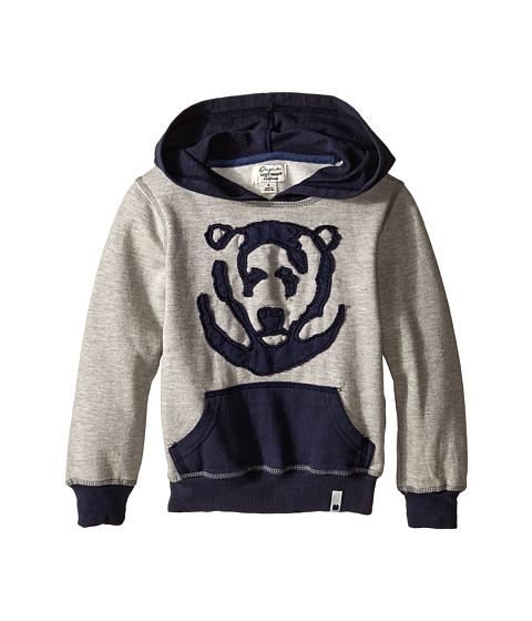 Lucky Brand Kids - Bear Applique Hoody (Little Kid/Big Kid) (Light Heather) Boy