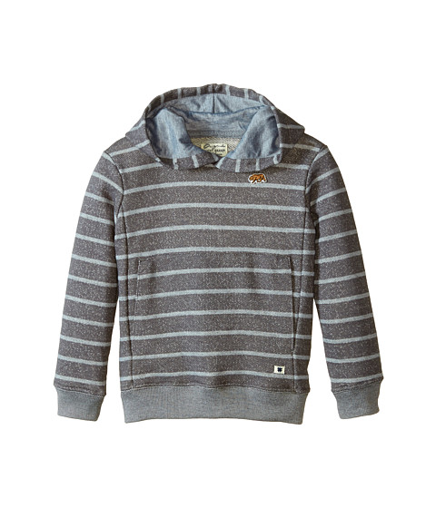 Lucky Brand Kids - Bear Patch Hoody (Little Kid/Big Kid) (Magnet) Boy's Sweatshirt